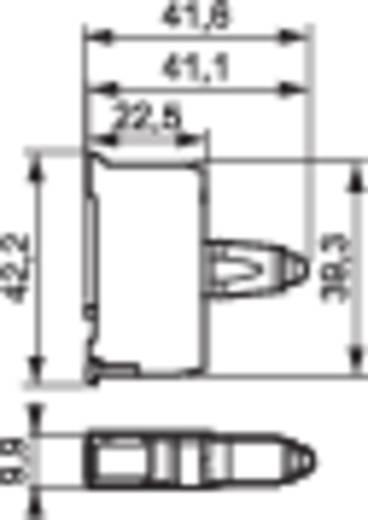 Üres ház LED-del, zöld 130V, BACO 33SAGM