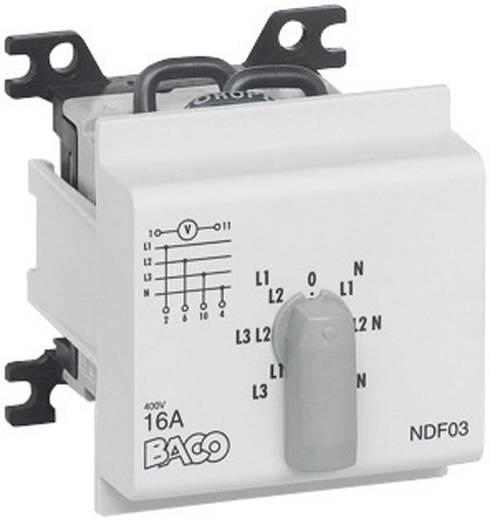 BACO Feszültségmérő átkapcsoló, 16 A, 0 állással NDF03
