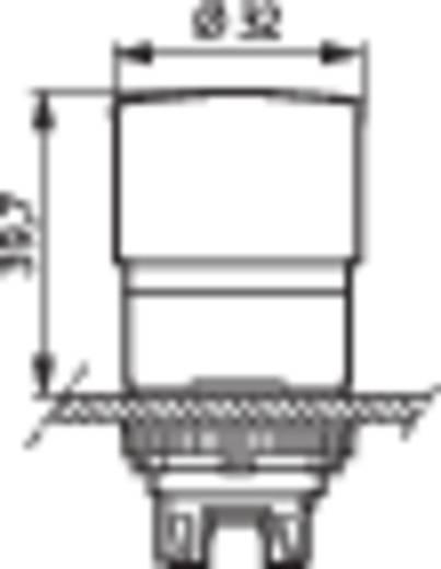 Gomba nyomógomb Műanyag előlapi gyűrű, státuszjelzővel Piros