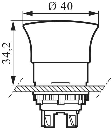 Gomba nyomógomb Műanyag előlapi gyűrű Piros BACO L22DM10 1 db