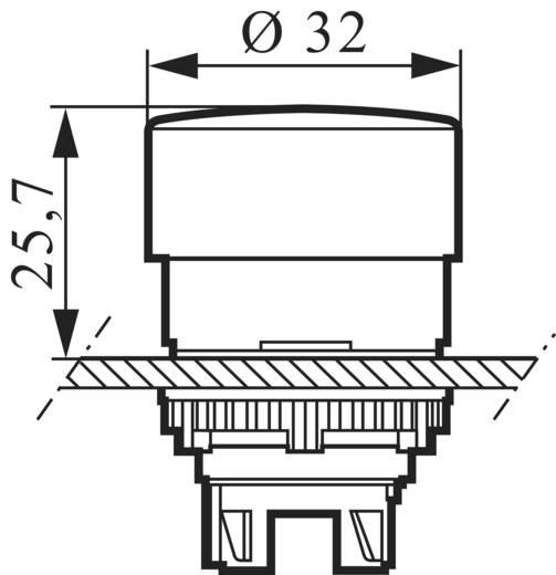 Gomba nyomógomb Műanyag előlapi gyűrű Piros BACO L22EL10 1 db