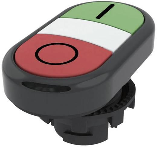 Kettős nyomókapcsoló, lapos működtető zöld, piros Pizzato Elettrica E21PDRL1AAAD 1 db