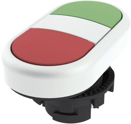 Kettős nyomókapcsoló, lapos működtető zöld, piros Pizzato Elettrica E21PDRL90423 1 db
