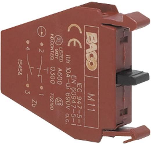 Érintkezőelem 1 nyitó, 1 záró nyomó 600 V BACO BALM11 1 db