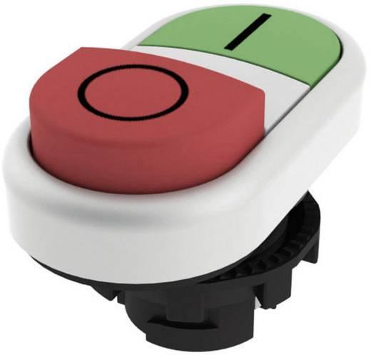 Kettős nyomókapcsoló, domború működtető zöld, piros Pizzato Elettrica E21PDSL9AAAD 1 db