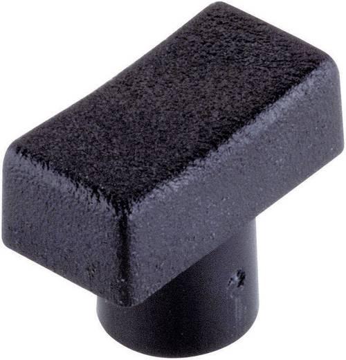 Nyomógombsapka szögletes fekete