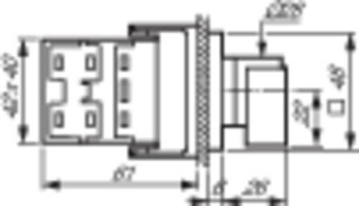 Voltmérő átkapcsoló 16 A 360 ° Szürke, Feke