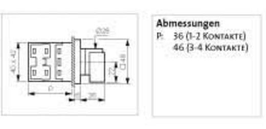 Terhelés leválasztó kapcsoló, 16 A 1 x 90 ° szürke, fekete BACO NB02AQ1 1 db