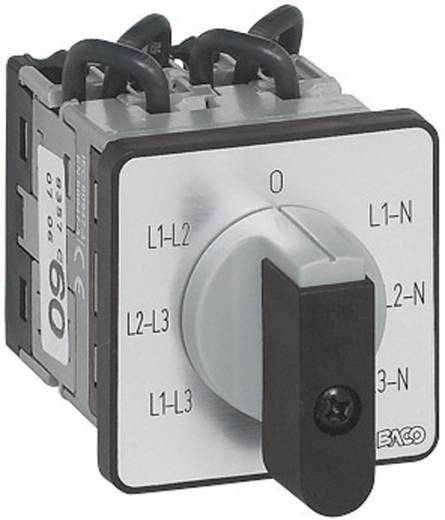 Voltmérő átkapcsoló 16 A 360 ° Szürke, Fekete BACO NY37GQ1 1 db