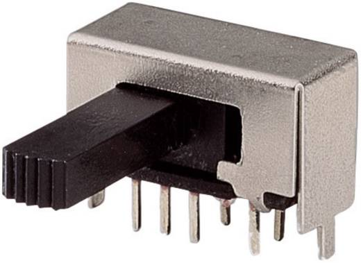 Tolókapcsoló 50 V/DC 3 A 2 x BE/BE/BE