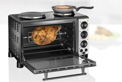 Mini elektromos sütő és grill, főzőlappal, 28 l, Unold 68855