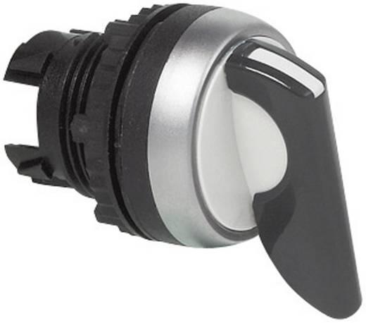 Forgókapcsoló, műanyag, krómozott előlapi gyűrű, fekete, L21MU03