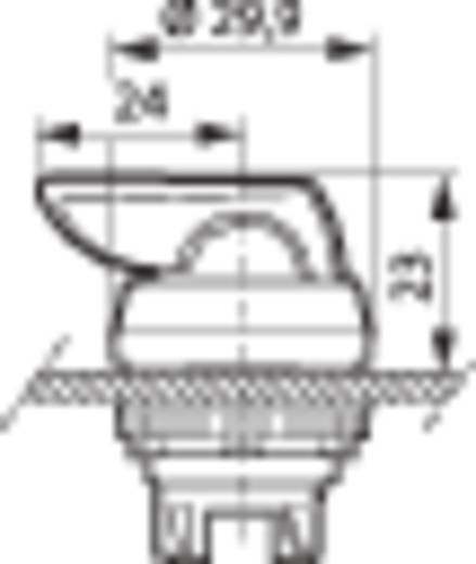 Nyomógomb, krómozott elülső gyűrű, fekete BACO L21KP03 1 db