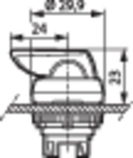 Nyomógomb, krómozott elülső gyűrű, fekete BACO L21KT03 1 db