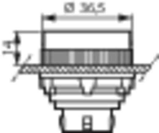 Nyomógomb, krómozott elülső gyűrű, piros BACO T16AA01 1 db