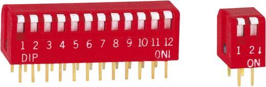 DIP kapcsoló Pólusszám 8 Pianó típus Diptronics