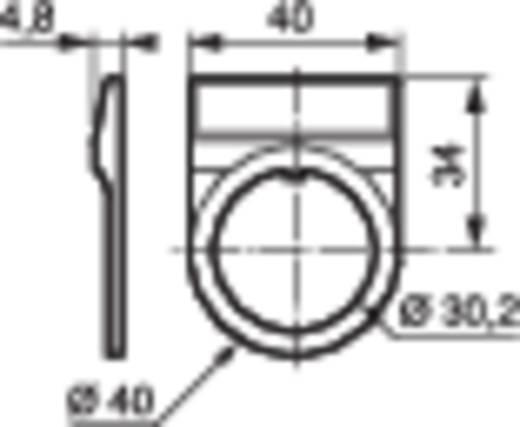 BACO Címketartó, 30 mm-es, alumínium behelyezhető táblával UP39