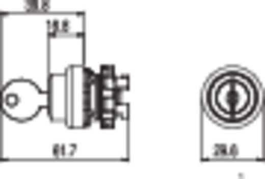 Kulcsoskapcsoló fekete 1 x 90 ° Pizzato Elettrica E21SC2DVA19AA 1 db