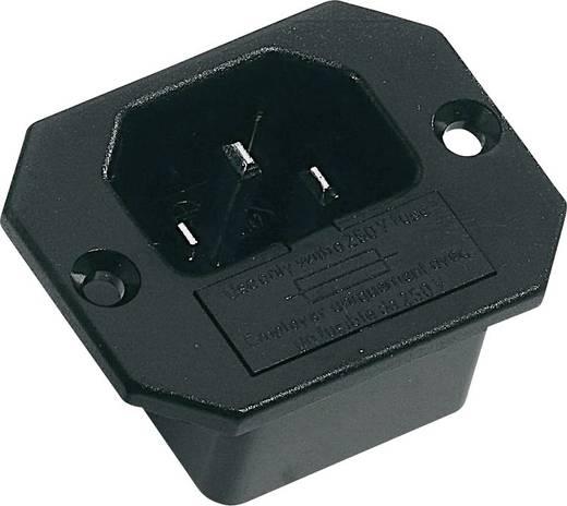 Beépíthető hálózati műszercsatlakozó dugó, függőleges, 3 pól., 10 A, fekete, C14, K&B 42R321111