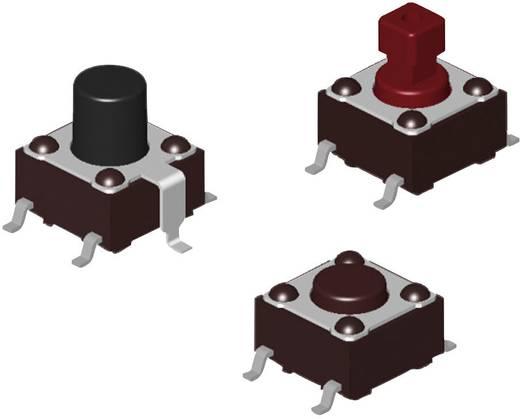 Nyomógomb 12 V/DC 0.05 A 1 x KI/(BE) Diptronics DTSM-66R-V-B Nyomó 231 db
