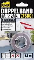 Kétoldalas ragasztószalag, átlátszó, 1,5 m (45375) UHU
