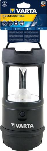 LED Kemping lámpás Varta Indestructible Beam 3D, 5 W Elemekről üzemeltetett 622 g Fekete 18760101111