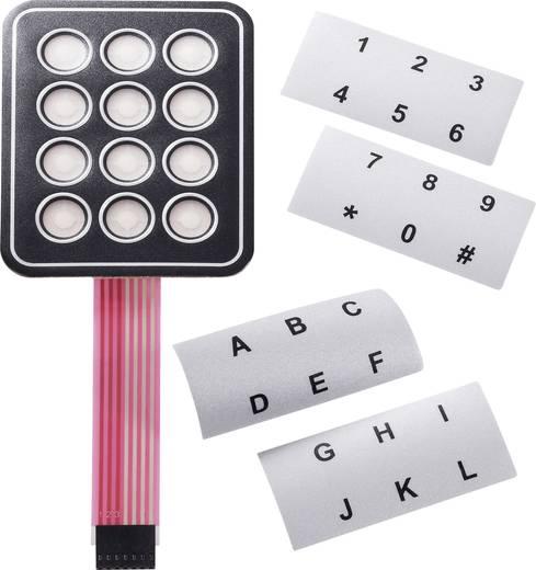 APEM fólia billentyűzet feliratozó csíkkal, 3x4 kontakt, 30V/DC, 95x76 mm, AC3534