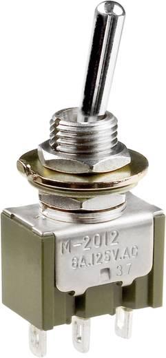 Karos billenőkapcsoló 250 V/AC 3 A 2 x BE/KI/(BE) NKK Switches M2029SS1W01 reteszelő/0/nyomó 1 db