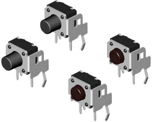 Nyomógomb 12 V/DC 0.05 A 1 x KI/(BE) Diptronics DTSA-61K-V Nyomó 500 db
