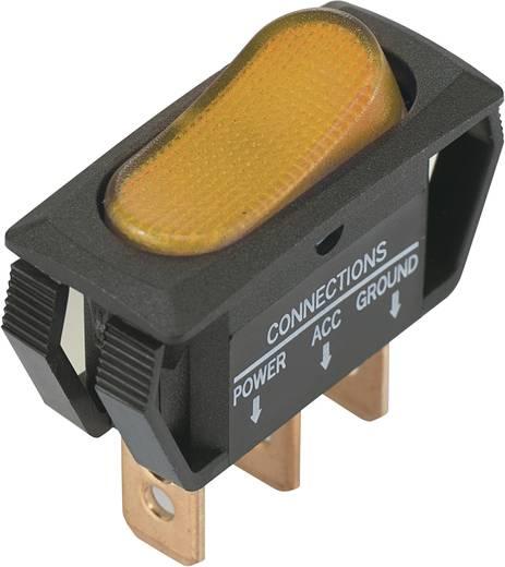 Billenőkapcsoló 12 V/DC 25 A 1 x KI/BE sárga színű SCI R13-242B2 reteszelő 1 db
