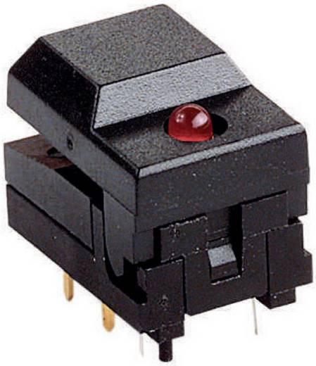 Szubminiatűr lapos nyomógomb LED-del
