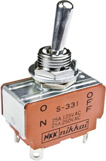 Karos billenőkapcsoló 125 V/AC 15 A 2 x (BE)/KI/(BE) NKK Switches S338 nyomó/0/nyomó 1 db