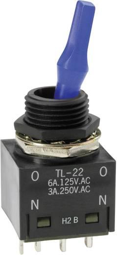 Karos billenőkapcsoló 250 V/AC 3 A 2 x BE/BE NKK Switches TL22DNAW016F reteszelő 1 db