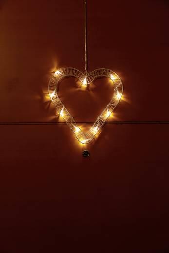 Beltéri LED-es ablak dekoráció, szív, Polarlite