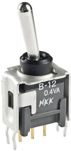 Mini karos billenőkapcsoló 28 V 0,1 A, 1 x be/ki/be, NKK Switches B23AP