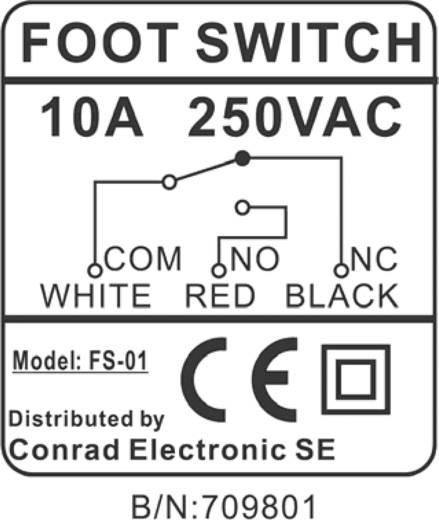 FS-01 Lábkapcsoló 250V/AC 10A
