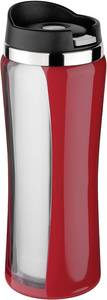 Rozsdamentes kemping pohár, 0,4 l, piros, Isosteel