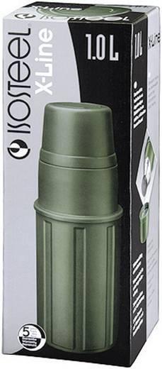 Rozsdamentes termosz, 1 l, oliva színű, Isosteel X-Line