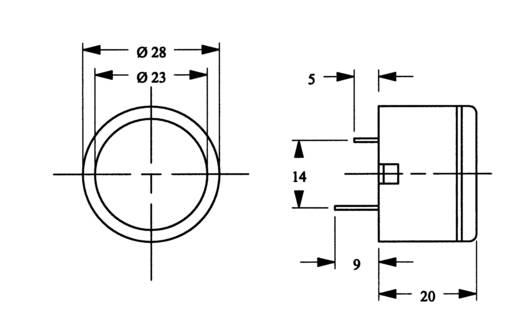 Miniatűr szaggatott zümmer 12 V 3kHz