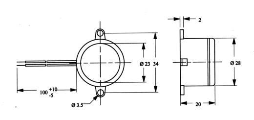 Miniatűr zümmer AL-28SW01-PT