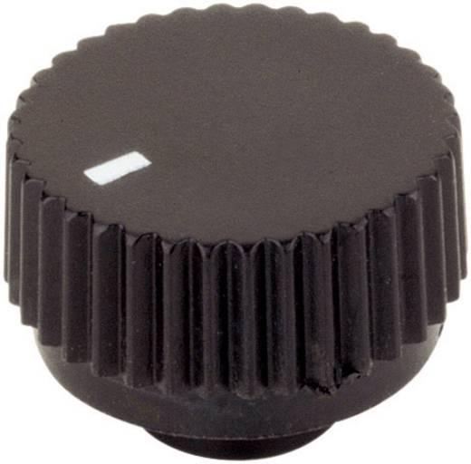 Műanyag forgatógomb fekete 17/6 mm