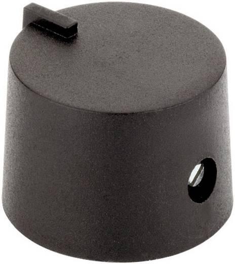 Műanyag forgatógomb GOMB 17/6 SW Fekete Tengely Ø 6 mm