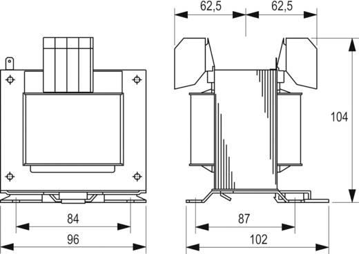 Szabályozó, biztonsági, elválasztó transzformátor sorozat, STEU 230 V és 400 V 2 x 12 V 2 x 10,4 A Block