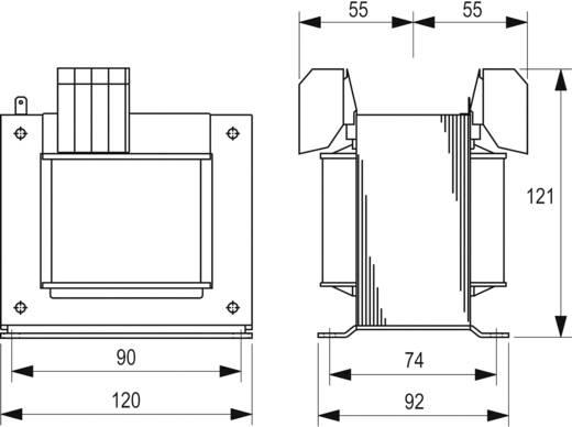 Szabályozó, biztonsági, elválasztó transzformátor sorozat, STEU 230 V és 400 V 2 x 115 V 2 x 1,39 A Block