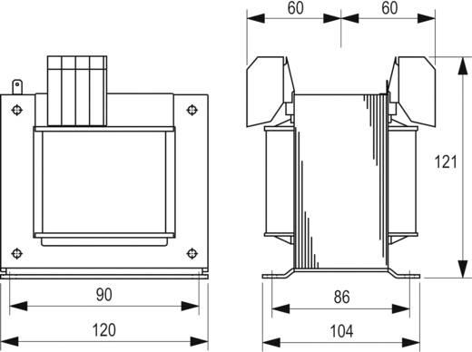 Szabályozó, biztonsági, elválasztó transzformátor sorozat, STEU 230 V és 400 V 2 x 12 V 2 x 16,6 A Block