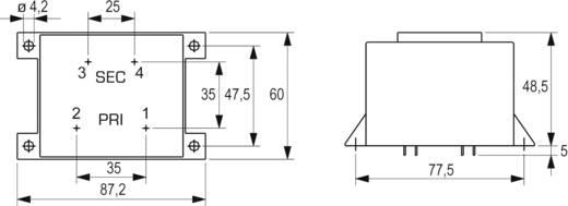 BLOCK EI 66/23 nyáktrafó 230V, 6V/6A/36W, VCM 36/1/6