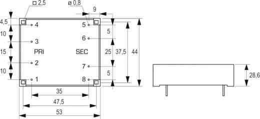 Primer: 2 x 115 V Szekunder: 2 x 12 V2 x 333 mAFL 8/12Block