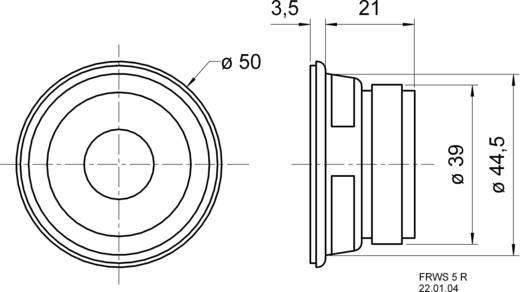 Szélessávú hangszóró, 5 cm-es Visaton 2212 84 dB, 84 dB, 8 Ω, 4 W, 5 cm, 1 db, FRWS 5 R