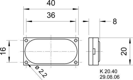 Miniatűr hangszóró, szögletes Visaton 2941 76 dB, 76 dB, 8 Ω, 1 W, 1 db, K 20.39