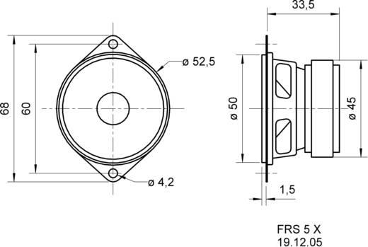 Szélessávú hangszóró 5 cm Visaton 2235 86 dB, 86 dB, 8 Ω, 5 W, 1 db, FRS 5 X